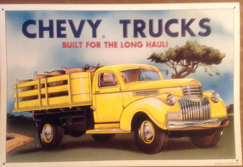 Flat Tin Sign - Chevy Truck