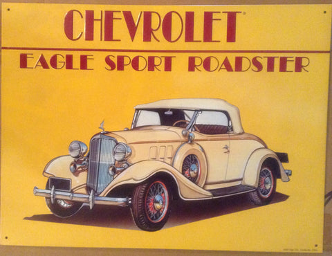 Flat Tin Sign - Chevrolet Eagle Sport Roadster
