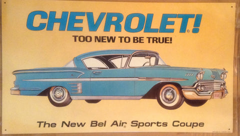 Flat Tin Sign - Chevrolet !