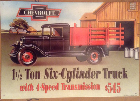 Flat Tin Sign - CHEVROLET TRUCK