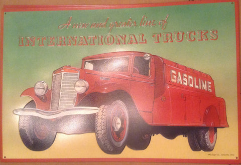 Flat Tin Sign - International Truck