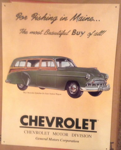 Flat Tin Sign - Chevrolet Motor Division