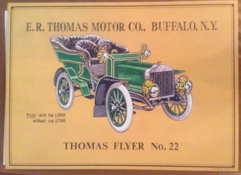 Flat Tin Sign - Thomas Flyer No. 22