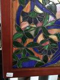 Glass Window - Stained Leaded Wood Frame Tree of Life