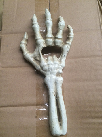 Bottle Opener -Cast Iron Skeleton Hand