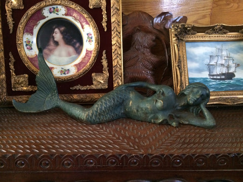 Cast Iron Mermaid - Laying Side Way