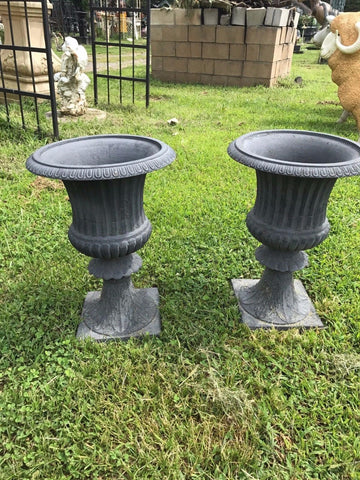 Urns Cast Iron - Pair Flower Planter