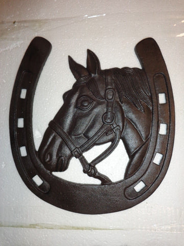 Cast Iron Sign -Horse Head Western Cowboy Wall Plaque