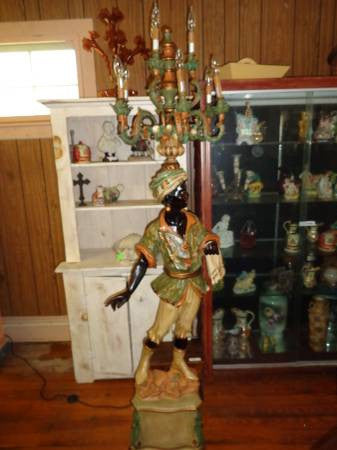 Pair of Blackamoor Lamps