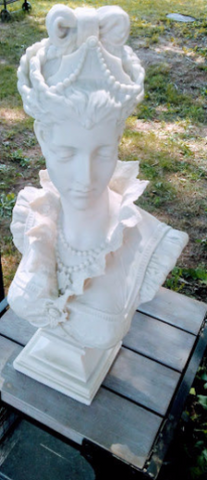 Fiberglass - Bust Victorian French Lady