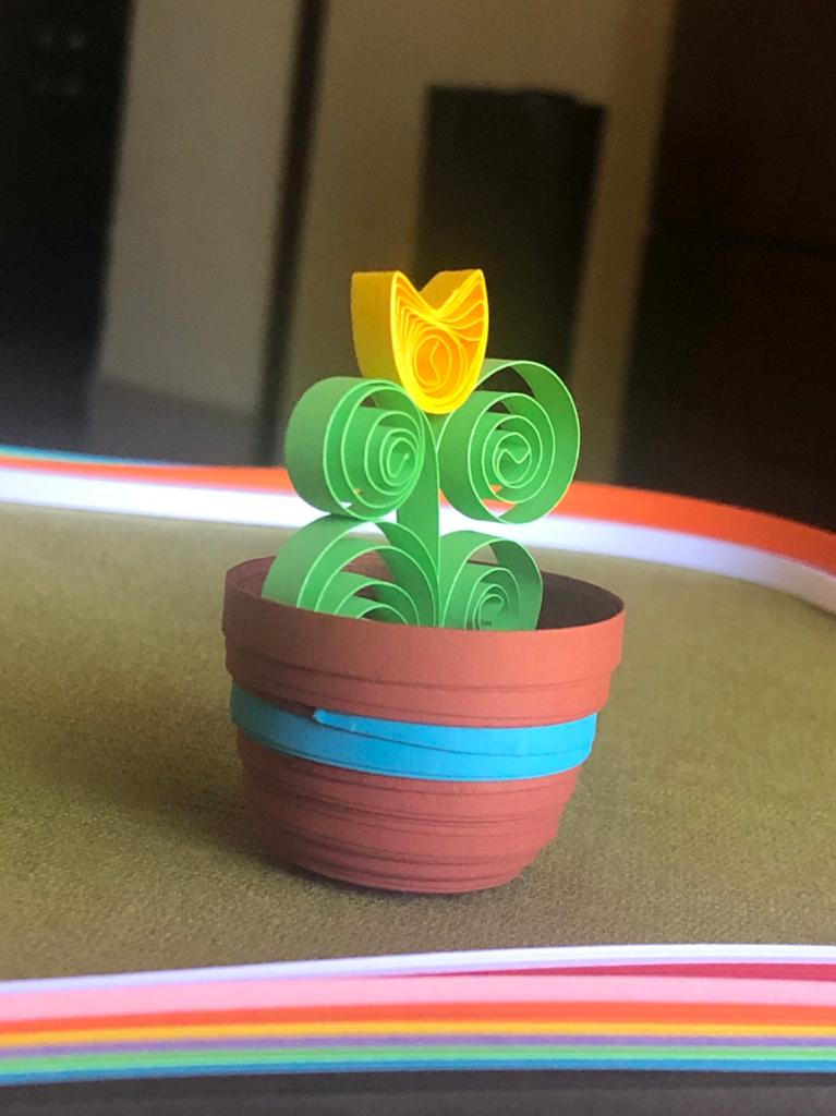 Quilled Flower Pot