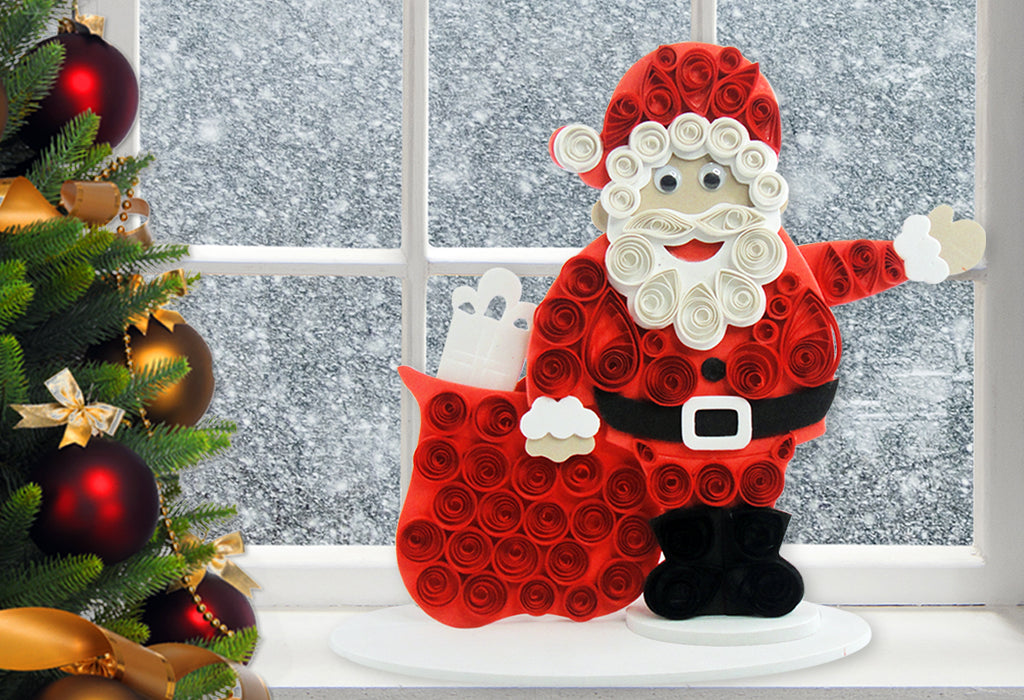 Christmas craft ideas for kids santa claus craft quill on for Quilling craft ideas