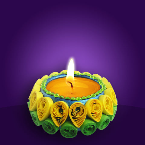 Quilled Pot Diya