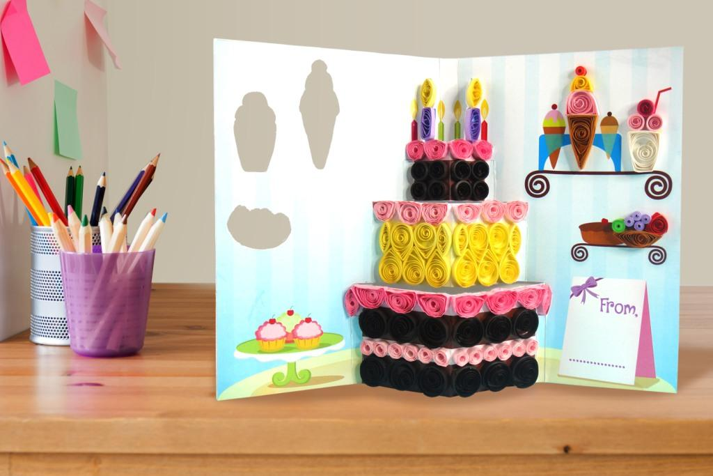 Cake Popup Card Quill On – Birthday Cake Pop Up Card Template