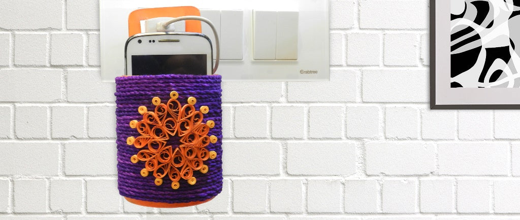 Mobile Charger Holder - Best Out Of Waste
