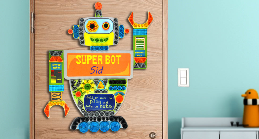 Quilling factory Robot Nameplate