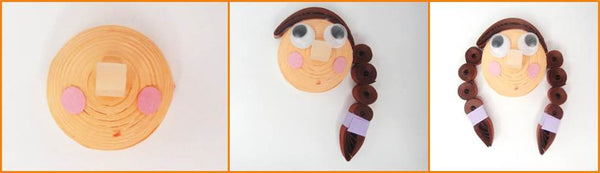 Quilling face