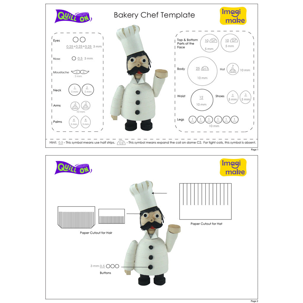 bakery chef template quill on