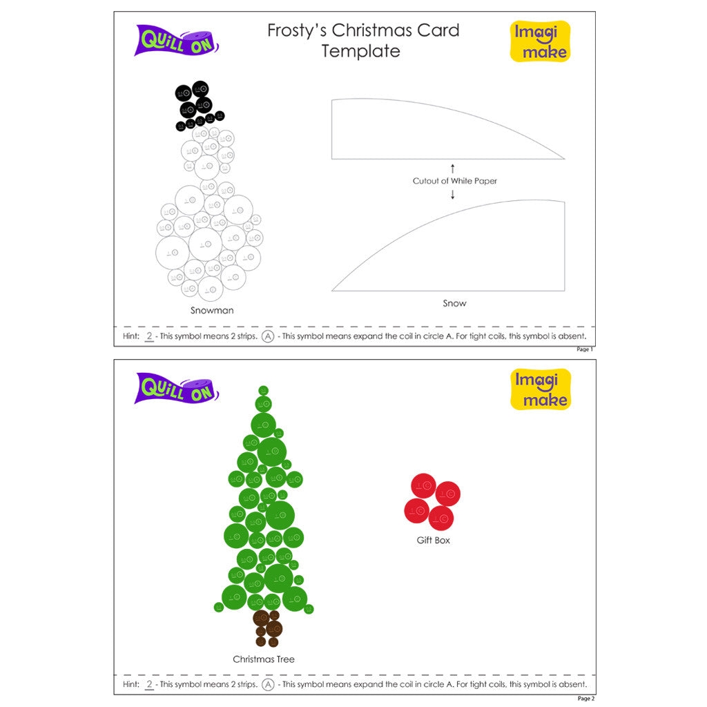 christmas card with paper quilling quill on