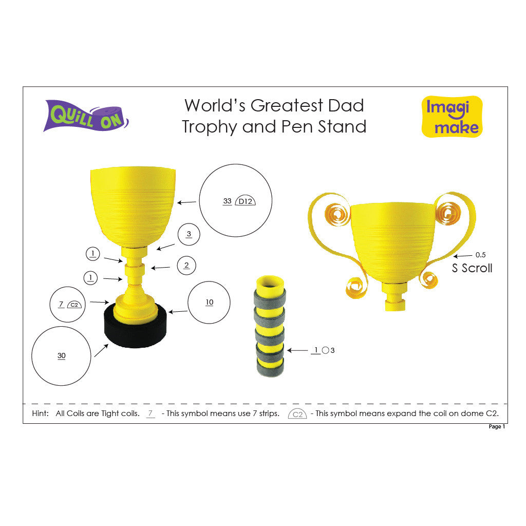 world s greatest dad trophy and pen stand template quill on