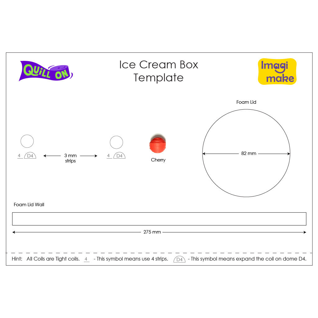 Ice Cream Box Template - Quill On