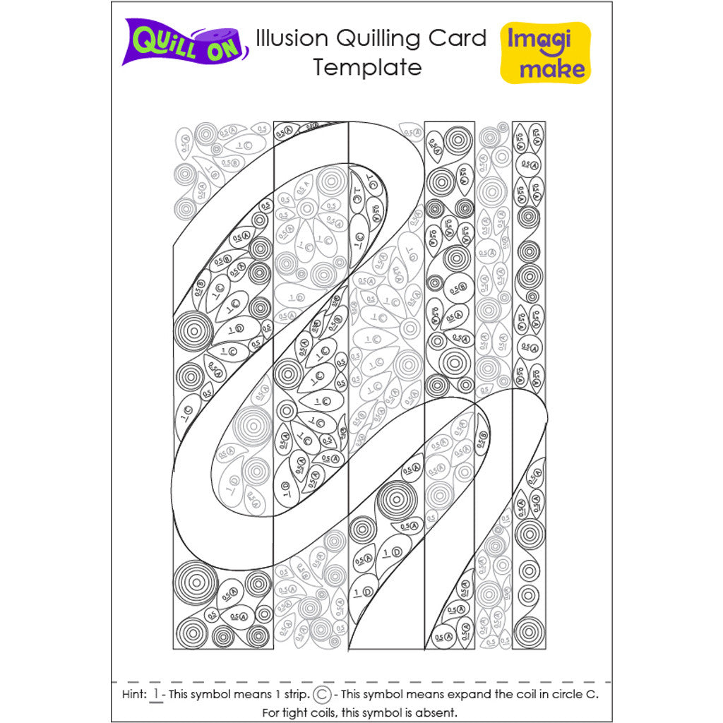 Illusion Quilling Card Template - Quill On