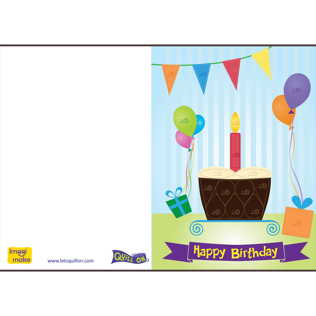 Quilling Birthday Card Template