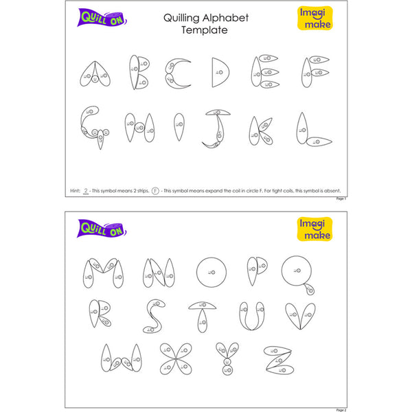 Quilling_Alphabets_grande Quilling Letter J Template on