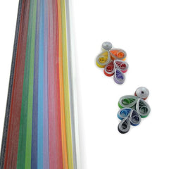 Quilling Strips - Silver Edge