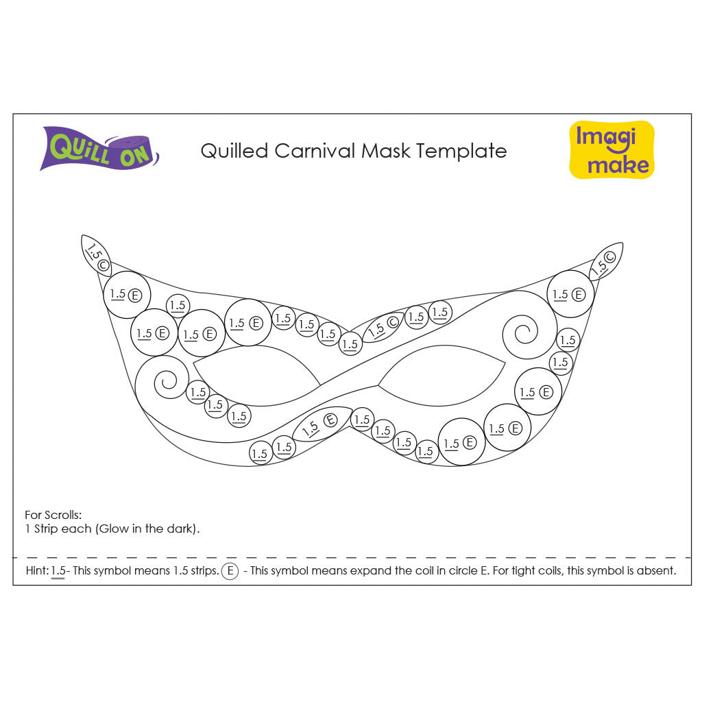quilled carnival mask template quill on