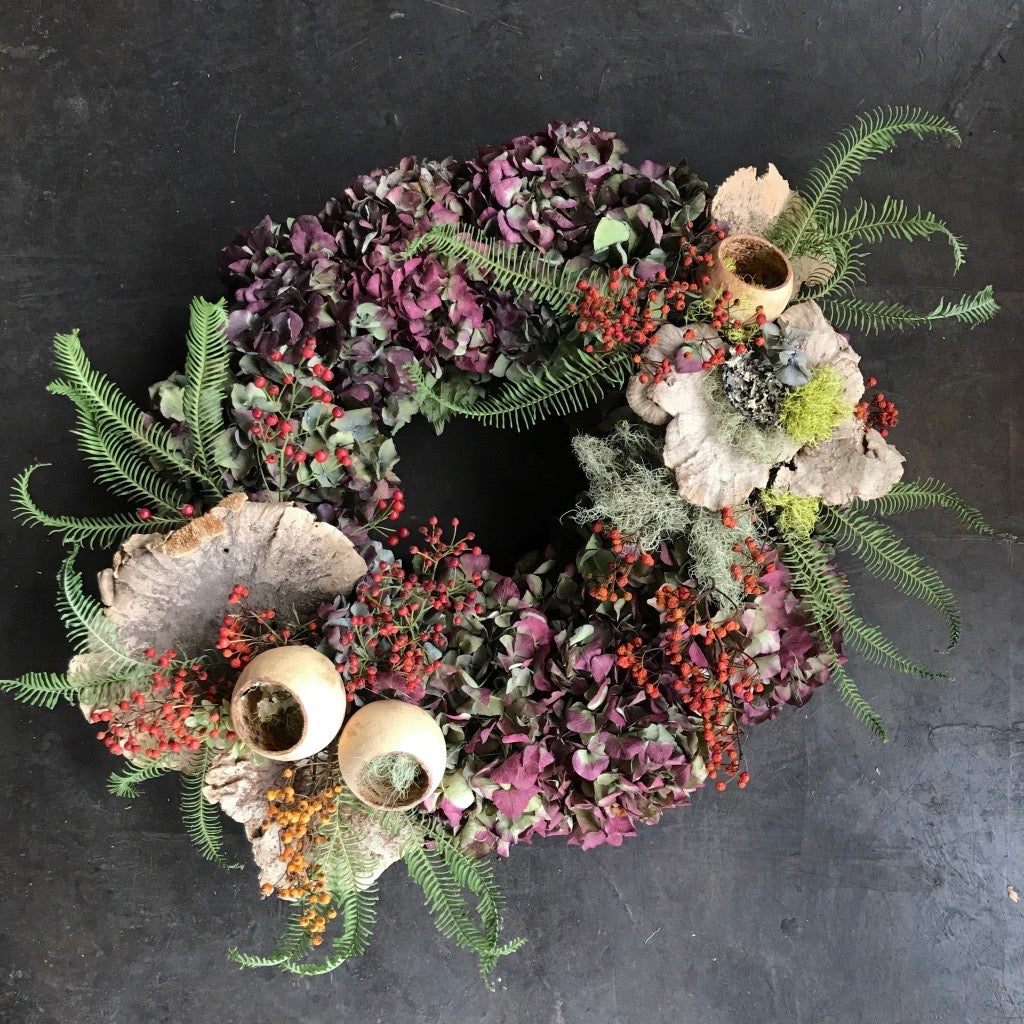 Autumn Hoop Wreath Workshop 10/22 6:30-8:30pm