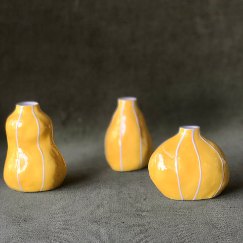 Yellow Bud Vases by Kri Kri Studio