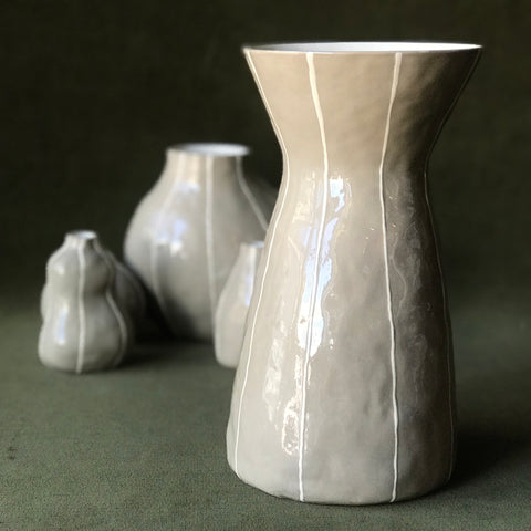 Taupe Eve Vase by Kri Kri Studio