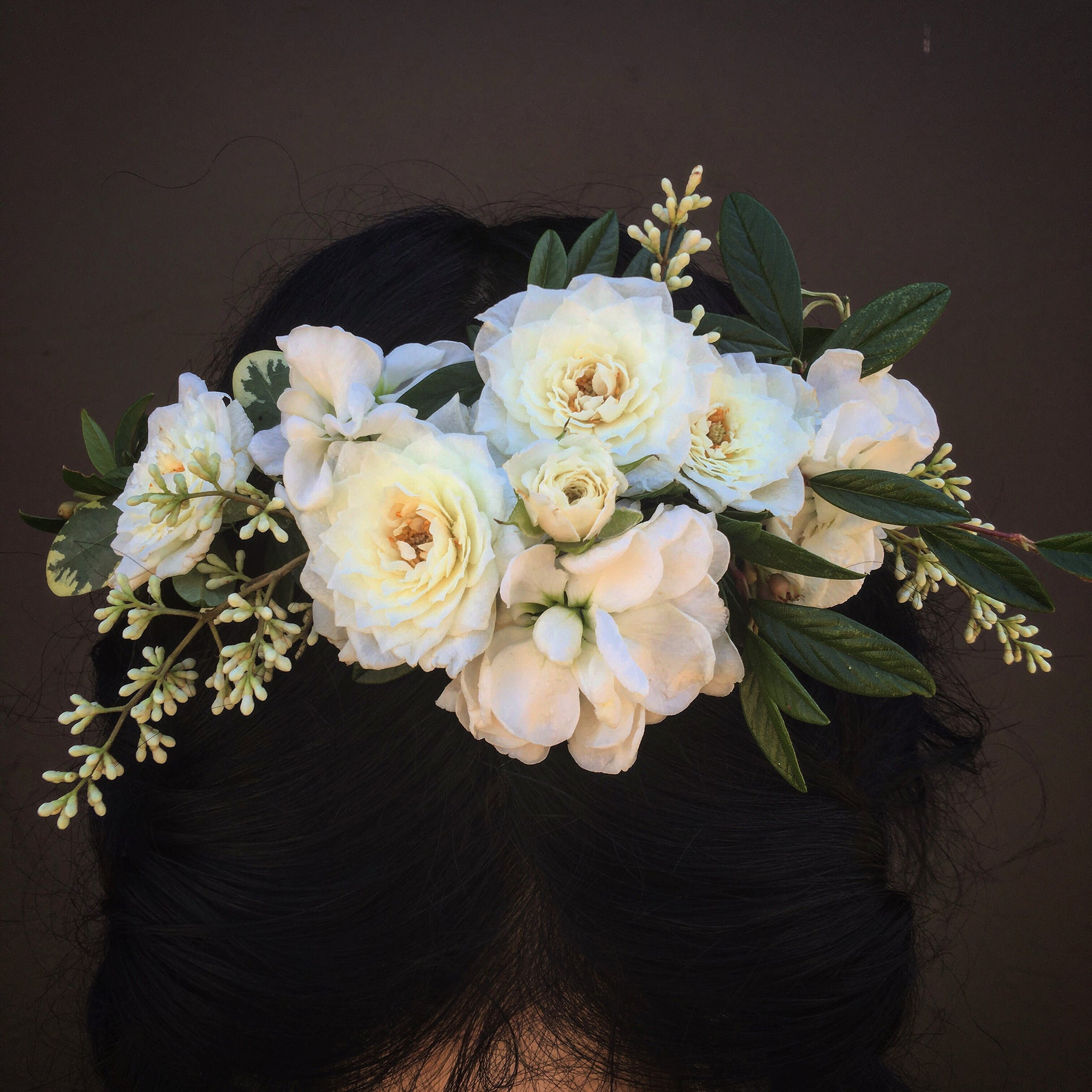 Full/Asymetrical Floral Crown
