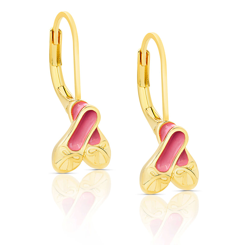 Ballet Slippers Leverback Earrings