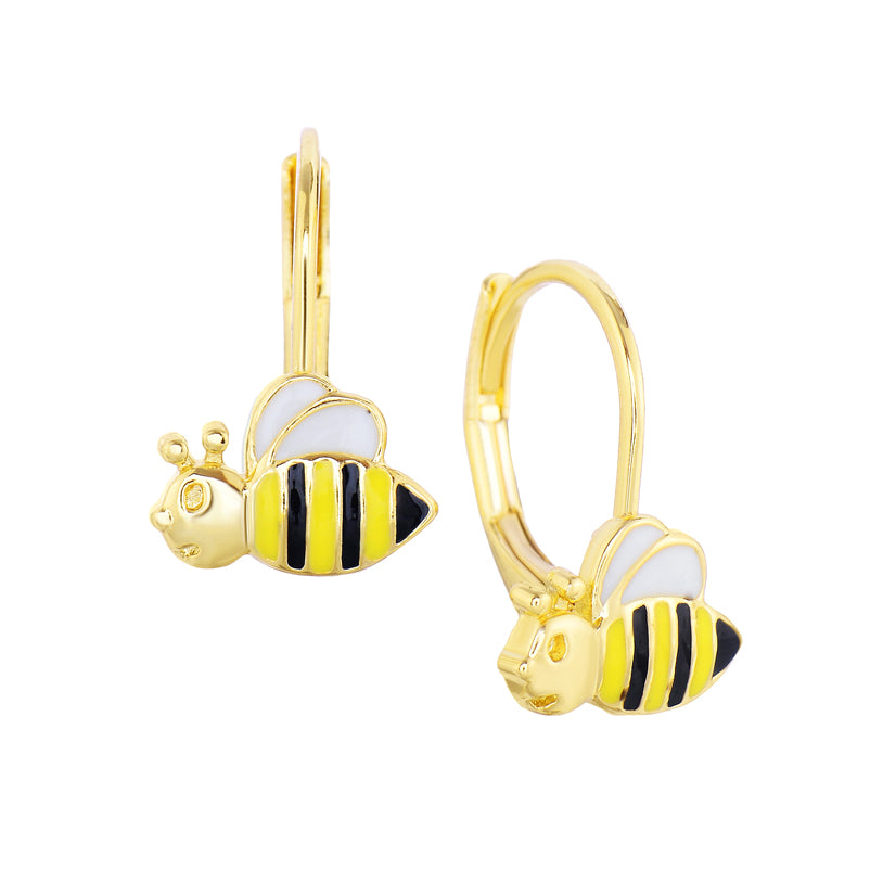 Bee Leverback Earrings