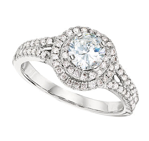 1/2ct Round Double Halo Ring