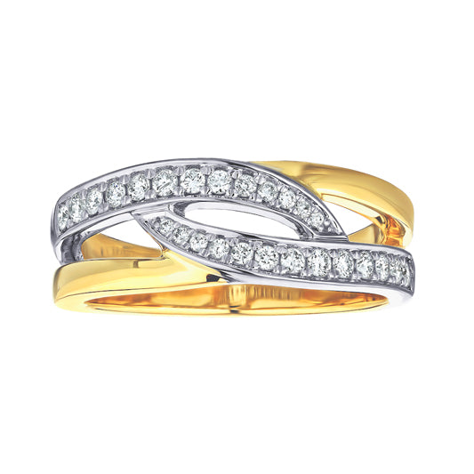 1/4 ct Double Loop 2-Tone 14kt Ring