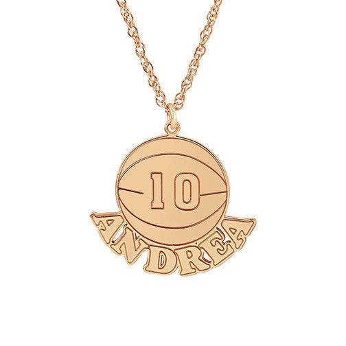 Henry's Personalized Basketball Pendant