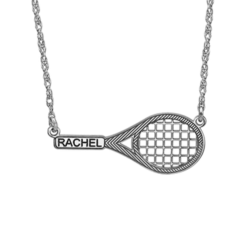 Henry's Personalized Tennis Racket Pendant (12x29mm)