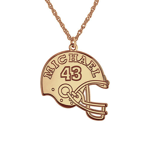 Henry's Personalized Football Helmet Pendant (24mm)