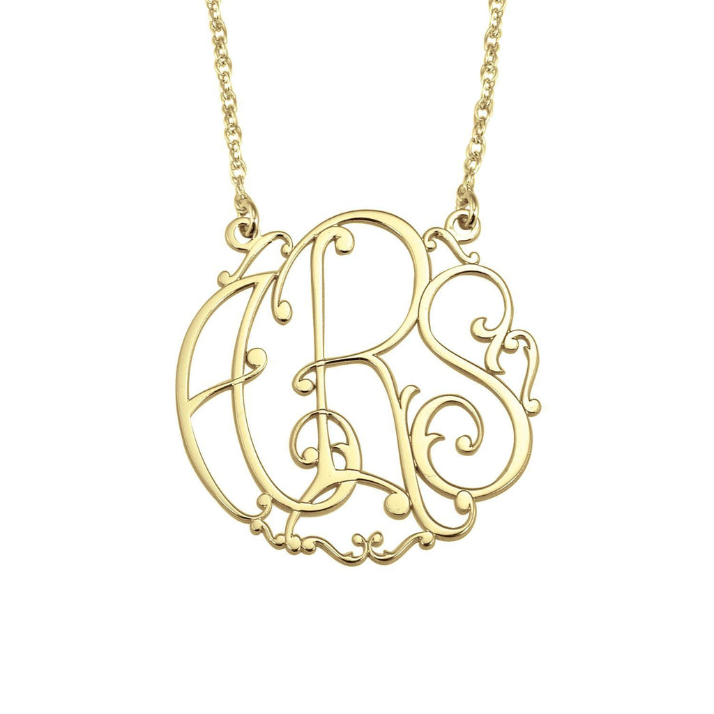 Henry's Ivy Classic Monogram Necklace (25mm)