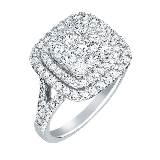 Double Halo Ring 1-1/2ct