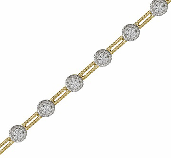 14kt White and Yellow Gold Bracelet