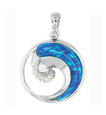 Ocean City Wave Pendant - Sterling Silver
