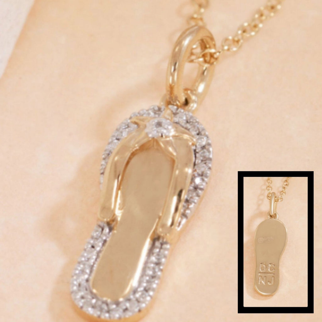 Diamond OC Flip Flop Necklace