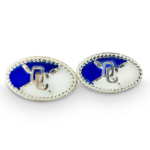 OC Sterling Silver & Enamel Cuff Links