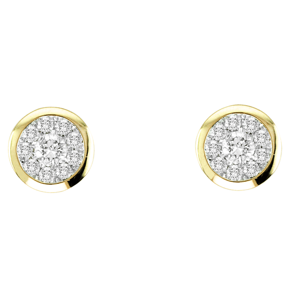 14kt Gold Round-Shape Earrings