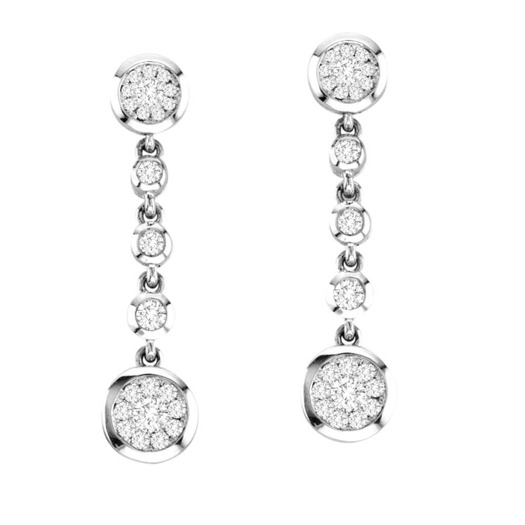 14kt White Gold Drop Earrings