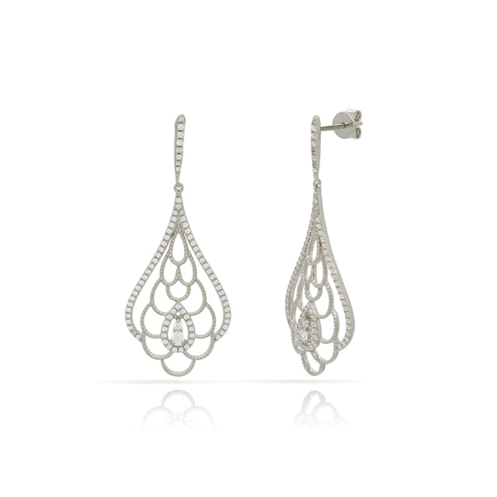 14kt White Gold Fashion Earrings with approx .55ct Diamonds